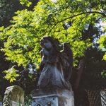 posąg anioła na cmentarzu